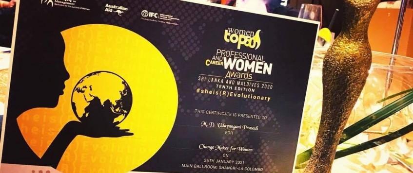 "Congratulations NUSS Team female gantry Crain operators Award Winner of the ""Top 50 Professional & Career Women Awards – Tenth Edition"" Sri Lanka & Maldives 2020"