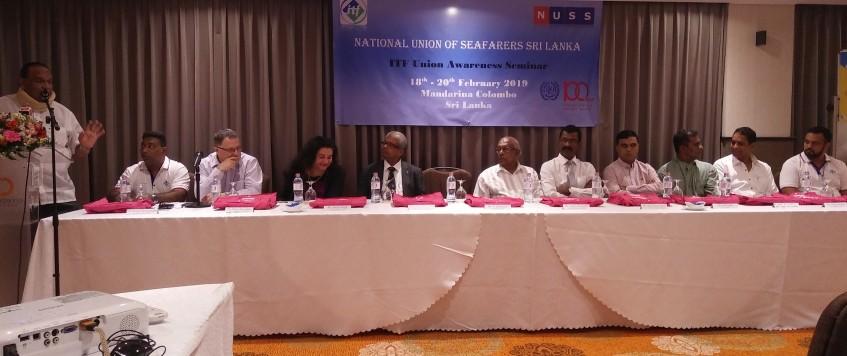 ITF Union Awareness Seminar 18th to 20th February 2019